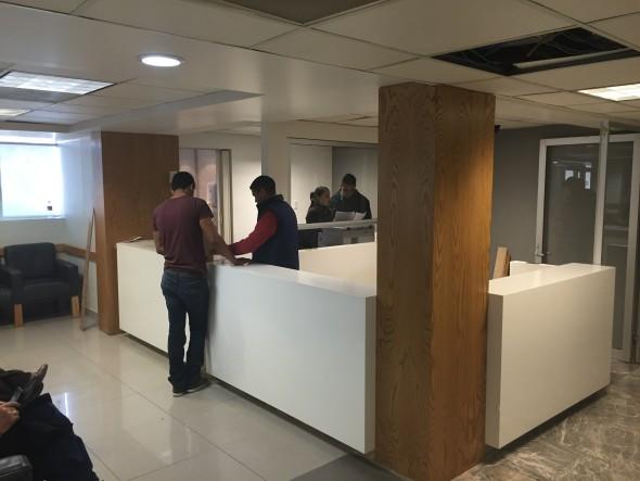Modulo de Recepción Emergencias Hospital CHRISTUS MUGUERZA (acabados).
